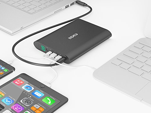 IIDEE 50000mAh Slim Aluminum USB-C, Dual USB Port with Qucik Charger, DC 5-20V Portable Charger External Battery Power Bank for Laptop & Notebook(sliver) by IIDEE (Image #7)