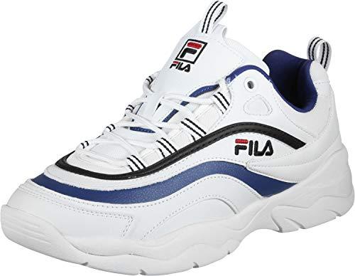 In Bianca Scarpe Ray Sneakers Low Uomo Pelle Fila 01u Blanc 1010561 Hn0Px