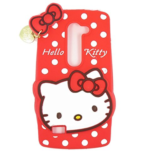 LG G Stylo 2 Silicone Case,Emily Fashion Super Cute 3D Cartoon Character Red Kitty Cat Protective Silicone Back Case Cover for LG G Stylo 2 (Cartoons Characters)