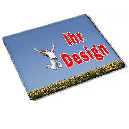 Custom DE-012, Geschenk Gift Individuelle Personalisierte Mousepad Mauspad Maus-Pad Stark Anti Rutsch mit eigenem ihr Foto Motiv Namen Design Text. Allen Maustypen (Kugel, Optisch, Laser).