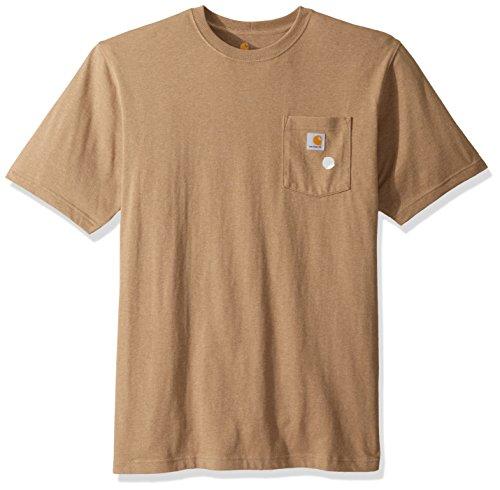 Carhartt Men's Big & Tall K87 Workwear Pocket Short Sleeve T Shirt, Desert Heather, 3X-Large -