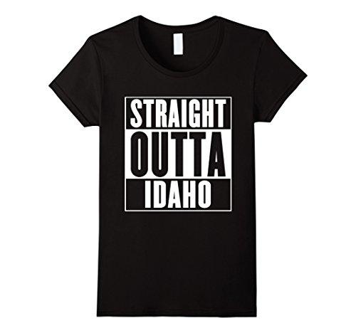 Womens Straight Outta Idaho T Shirt Small Black