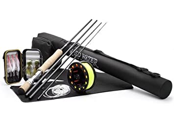 Wild Water Deluxe 9 10 9 Rod Freshwater Fly Fishing Complete Starter Package