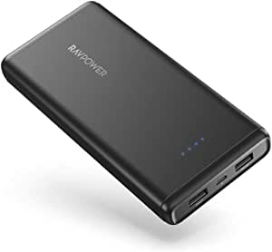 Portable Charger Power Bank 20000mAh RAVPower USB External Battery Pack Dual iSmart USB Ports Ultra Compact Phone Charger Compatible with iPhone 12 11 Pro Max Galaxy S10 Note 10 iPad Pro Android