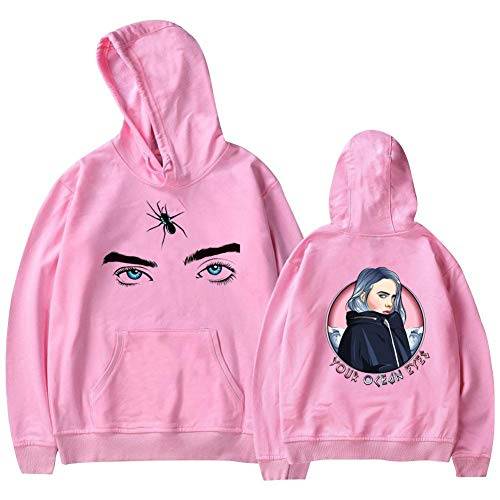 Billie Eilish Casual Printed Hoodies Sweatshirts, Adult & Youth Clothing Pullover Tops Youth S