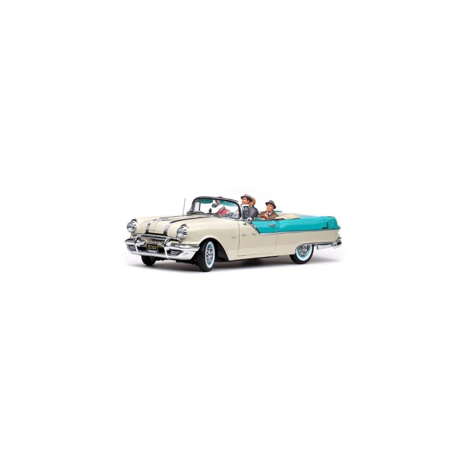 1955 Pontiac Star Chief Convertible   I Love Lucy (Lucille Ball) 1/18 Nautilus Blue/White Mist