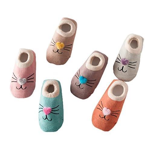 Estwell 6 Pares Calcetines Beb/é Antideslizante Infantil Ni/ños Ni/ñas Invierno Grueso Calcetines Animados