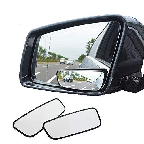 AOLVO Blind Spot Espejo, Cuadrado HD Cristal Convexo Espejo retrovisor para Todos los vehí culos Universal Coche Ajuste Stick-on diseñ o 2 Unidades