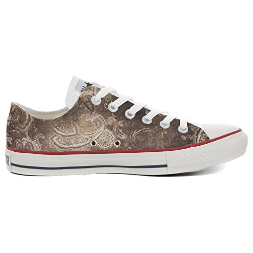 Converse All Star Customized ALL STAR - zapatos personalizados (Producto Artesano) Gold Paisley