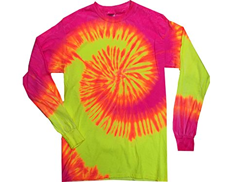 Colortone Tie Dye L/S XL Flo Swirl
