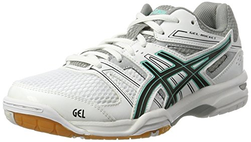rocket De Gel Volleyball white Asics Chaussures 7 cockatoo black Femme Multicolore qFxfn5