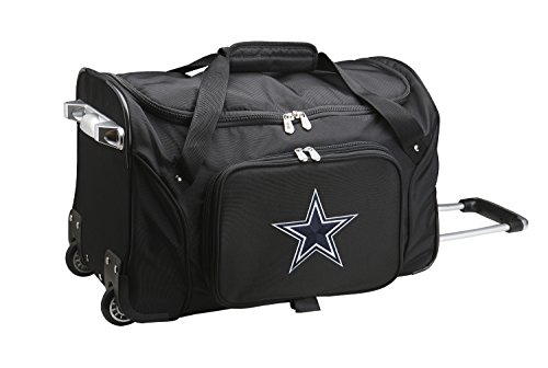 NFL Dallas Cowboys Wheeled Duffle Bag, 22 x 12 x 5.5