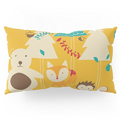Society6 Woodland Christmas Friends Pillow Sham King (20'' x 36'') Set of 2 by Society6