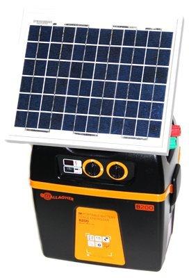 Gallagher G393SK B200 12-volt Portable Solar Fencer, 90 Acre/15-Mile