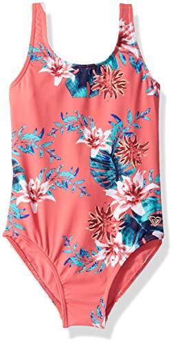 (Roxy Big Girls Day Dream One Piece Swimsuit, Brush Pink Sun Chaser Swim, 12)