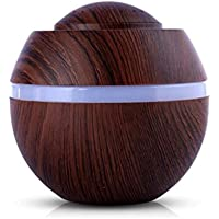 Air Aroma Humidifier, Iuhan 500ml Cool Mist Humidifier Ultrasonic Aroma Essential Oil Diffuser for Office Home Bedroom Living Room Study Yoga Spa - LED 7 Color Changing (A)