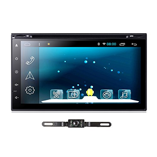 TOCADO GPS Navigation Car DVD Player Android 7.1 Car Setero Quad-core 7'' In-Dash DVD Receiver with RDS Radio Bluetooth SD for Universal Car with Backup Camera