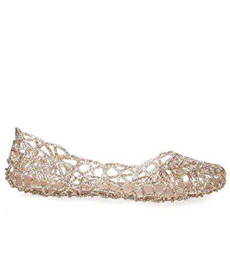 Glasur Damen Jelly Ballet Flat Klarer Multi-Glitter