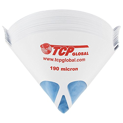 Funnel Global - TCP Global 50 Pack of Paint Strainers with Fine 190 Micron Filter Tips - Premium