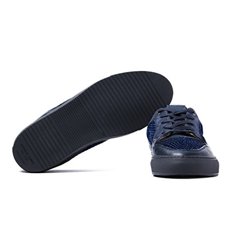 Android Homme Omega 117 Navy Leather & Suede Trainers-UK 7 wiki online Aa3SG