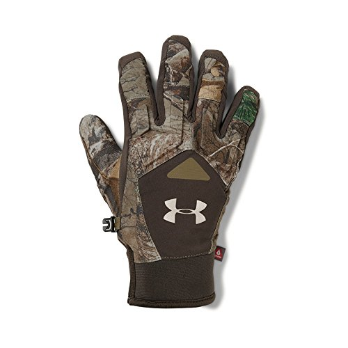 Under Armour Women's Primer Gloves, Realtree Ap-Xtra (946)/Metallic Beige, - Armour Hunting Under Gloves