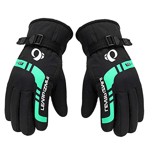 1 Pair Thermal Gloves - Warmest Ski/Motorcycle Gloves for Man with Adjusting Band - Red/Green Windproof Riding Equipments for One - Riding Equipment