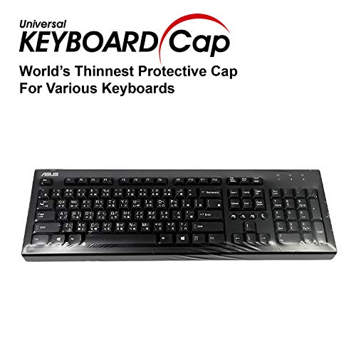 Fully Covered Flat Style Easily Sanitized Universal 0.025mm Superb Tactile Feeling Waterproof Anti-Dust Keyboard Cap Cover for Desktop Keyboard with Numeric Hospital/Dentist Use [3 Pack]
