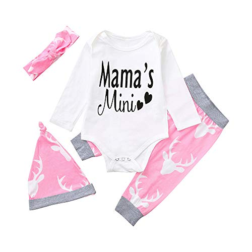Lettera Romper manica Fasce White Kids Boys 4 24months di 6 Pants Adeshop Print Love Primavera Set Fashion lunga Hat pezzi Clothes Girls Baby qwzzF6P