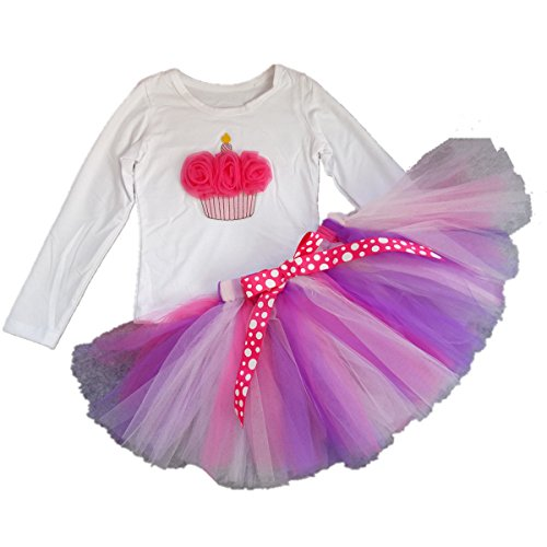 AISHIONY Kid Girl 3rd Birthday Tutu Princess Dress  Skirt Outfit ,Long Sleeve,3 Years (Outfits With Dresses)