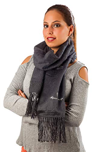 Beautiful Alpaca Scarf Made in Peru - Incredibly Soft and Warm - Men and Women