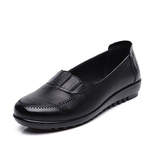 Mamá y fondo suave zapatos/Plano medio y viejo de zapatos de mujer/Además de zapatos de tamaño de las personas mayores A
