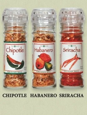 Parmesan Blend - The Gourmet Grinder Collection - Hot Pepper Seasonings Selection; Chipotle / Habanero / Sriracha; Grind It Fresh for More Flavor and Aroma; The Secret of Gourmet Chefs Around the World!