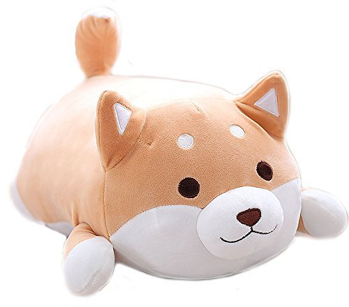 Shiba Inu Dog Soft Plush Throw Pillow Lifelike Animal Pillows Plush Toy for Valentine's Gift, Bed,Sofa Chair (Dog Dumpling)