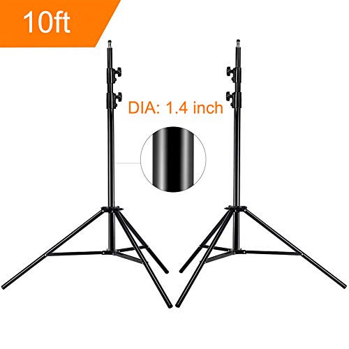 [Upgrade] MOUNTDOG 10FT/300CM Photographic Light Stand Portable for Relfectors Softboxes Lighting Stand Umbrellas Monolight Photography Equipment Heavy Duty Alluminum Alloy - 10ft X2