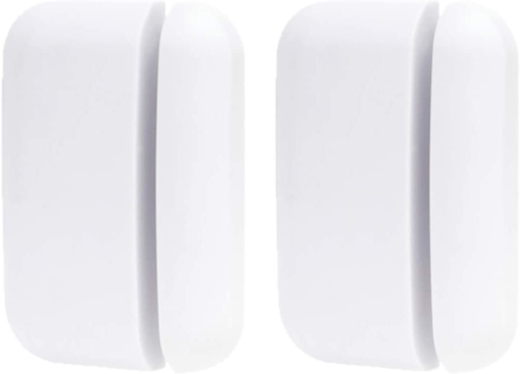 Wireless Door Window Sensor for Business Home Store 2 Magnetic Sensor Detectors (Need to be Paired with Receiver to Work)