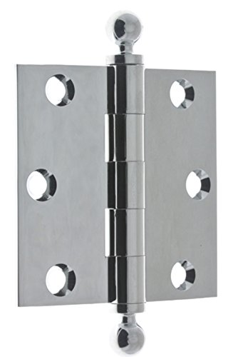 idh by St. Simons 80101-026 Professional Grade Quality Genuine Solid Brass Loose Pin Hinges, Polished Chrome, 3 x 3-Inch