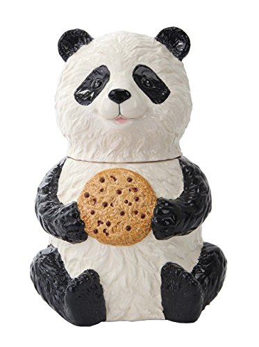 Panda Ceramic Cookie Jar<br>7 x 7 x 9 1/2H Inches