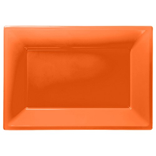Amscan International 997432 Plastic 3 Serving Platter, Orange Peel Amscan International Ltd