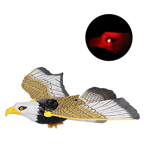 Electric Luminous Hanging Eagle Toy For Boys Girls Kids Children 3 and Up With Sound Music and Flash Light Flying Bird Toys Gifts (Electric Fly Toy)