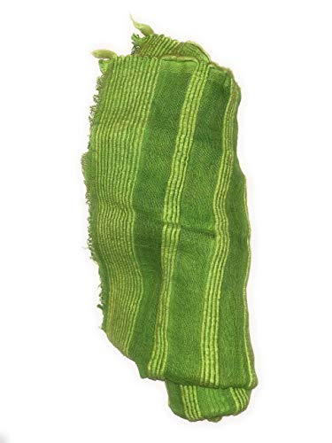 Ethiopian Scarf - Traditional Netela - 100% Cotton - Handmade African Scarf (Lime Green)