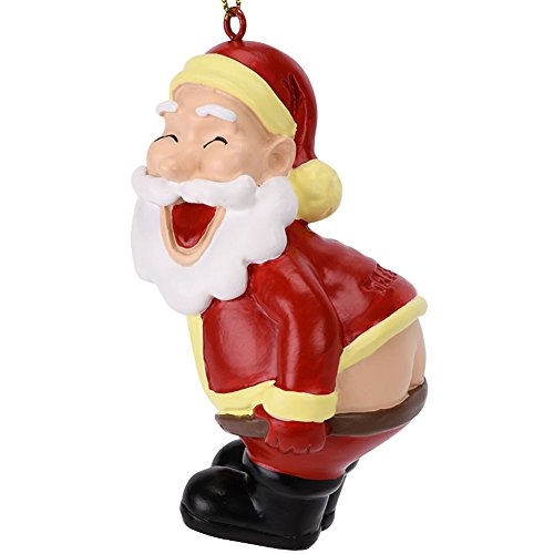Tree Buddees Funny Mooning Santa Claus Christmas Tree Ornament]()