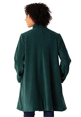 Women's Plus Size Jacket, Swing Style, In Cozy Fleece