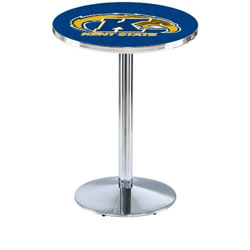 """Holland Bar Stool L214C Kent State University Officially Licensed Pub Table, 28"""" x 42"""", Chrome"""