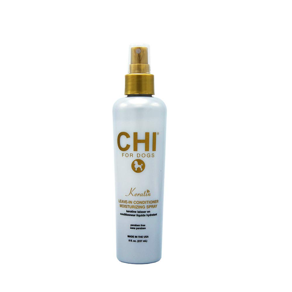 CHI for Dogs Keratin Leave In Conditioner Moisturizing Spray, 8 oz | Paraben Free & pH Balanced for Dogs | Made In the USA