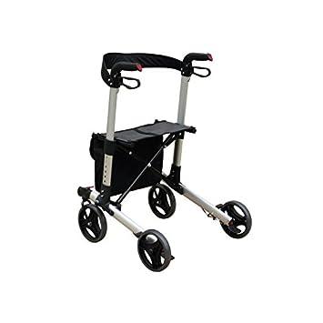Aluminio plegable de cuatro ruedas andador reducida ...