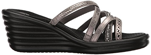 Wave Skechers Sandal Lassie Women's Rumbler Pewter Slide New qRwxP7ER