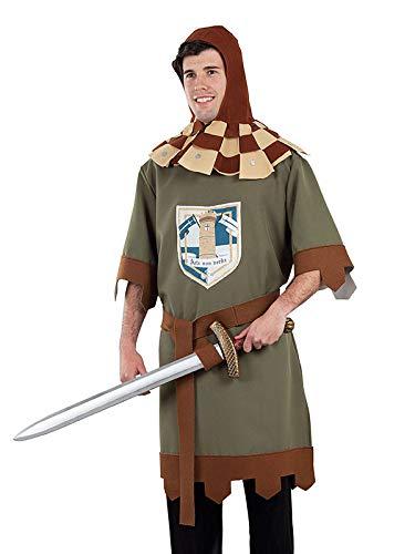 DISBACANAL Traje Caballero Medieval Adulto - Único, L ...