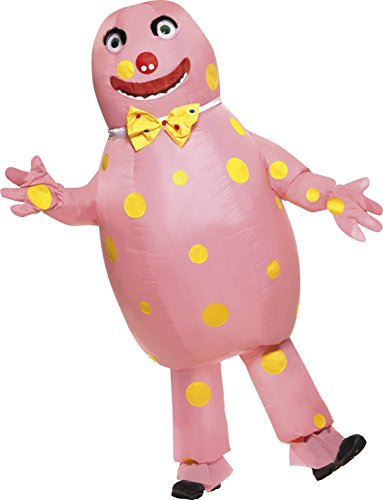 Smiffy's Adult Unisex Mr Blobby Costume, Inflatable Suit & Gloves, One Size,