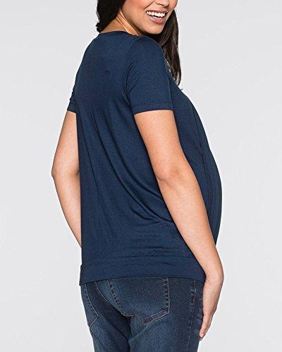Infermieristica Manica Camicie T Guiran Donne Premaman Top Camicetta Maternità Corta Marina Allattamento Militare Shirt 01Xwfqw