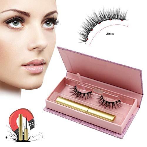 Magnetic Eyelashes Kits Set, 2019 Minso Natural-looking Design Magnetic Eyelashes with Magnetic Liquid Eyeliner and Delicate -box ,Easy-wearing & Reusable Eyelashes